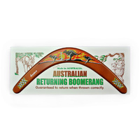 "BOOMERANG, 18"" SUNSET CARDED"