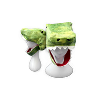 CROCODILE PLUSH CHARACTER HAT (6X)
