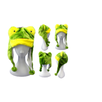 FROG PLUSH CHARACTER HAT (6X)