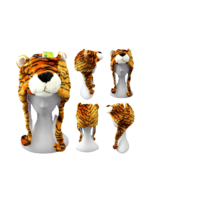 TIGER PLUSH CHARACTER HAT (6X)