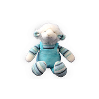 KNIT & PLUSH LAMB BOY BLUE