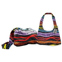 COTTON CANVAS HIPPIE SLING BAG, JEDESS HUDSON RAINBOW